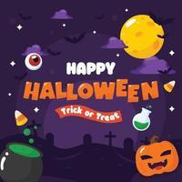 fondo del festival de halloween vector