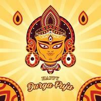 Durga Puja Indian Traditional Festival Concept vector