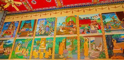 koh samui, tailandia, 2021 - obra de arte del templo wat plai laem foto