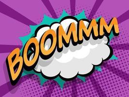 boom comic pop art background vector