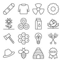 Pack of Nature and Meteorology Linear Icons vector