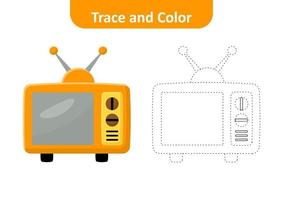 Trace and color, television vector