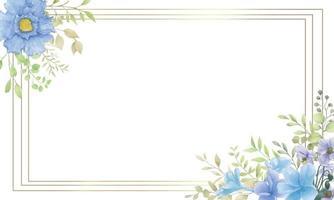 Elegant watercolor floral background vector