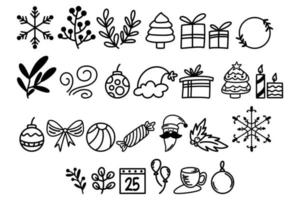 Christmas Concept Cute Doodle Pack vector