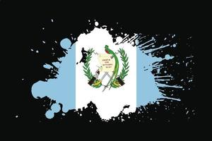 bandera de guatemala con diseño de efecto grunge vector