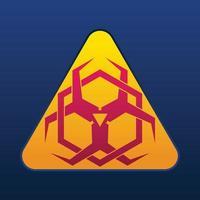 biohazard symbol design vector