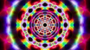 ciclo di tunnel con effetto energetico colorato video