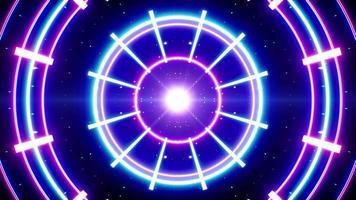 Neon Light Planetarium Concept Background video