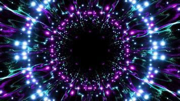 neon glitters en kronkelende lijn logo placeholder effect video