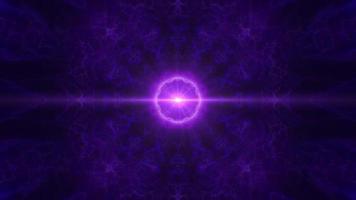 racha de luz púrpura en el bucle de fondo de plasma oscuro fractal video