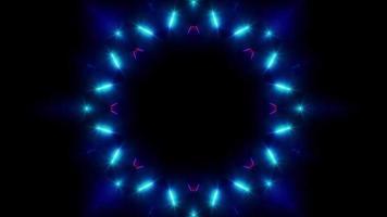 glanzende bloemvorm neonlichten vj achtergrond video