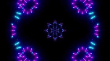 Glow Flower Shape Neon VJ Light video