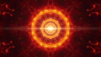 Symmetrical Glowing Fire Energy Effect video