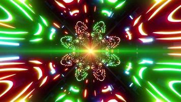 färgglada ljus multi form händelse koncept tunnel video