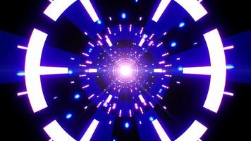 Glowing Blue Colored Checkerboard Pattern VJ Tunnel video