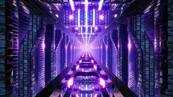 Neon VJ Loop Tunnel Motion video