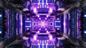 Neon Light Tunnel VJ Loops video