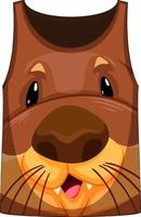 Tank top with face of otter pattern vector