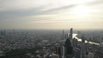 timelapse Bangkok city scape skyline in Thailand video