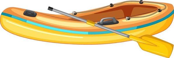 Inflatable boat with oars on white background vector