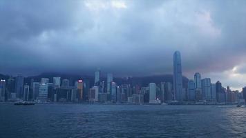 timelapse Hong Kong City scape video