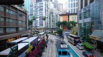 Timelapse crowded people and Traffic in Hong Kong city video