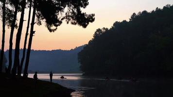 morning sunrise at Pang Oung in Mae Hong Son, Thailand video