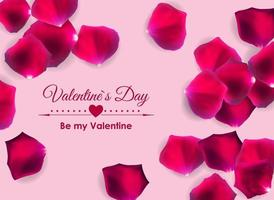 Valentine's Day Love and Feelings Background Design. vector