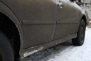 coche sucio barro auto foto