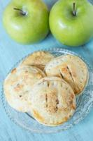 Apple Hand Pies on Antique Glass Plate photo