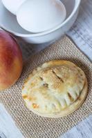 Single Autumn Apple Hand Pie Close Up photo