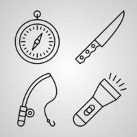 Simple Set of Camping Vector Line Icons