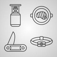 Camping Icon Set Vector illustration EPS