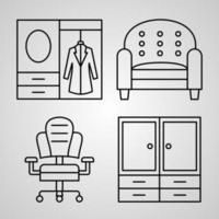 Hotel Icon Set Vector illustration EPS