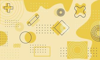 futuristic geomatric wallpaper background with pastel yellow color vector