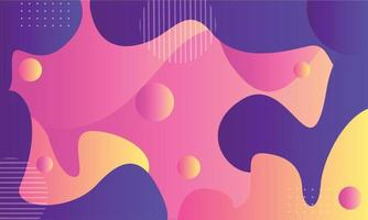Modern illustration background wallpaper full of cheerful colors vector