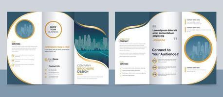 Creative modern trifold brochure template vector