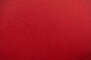 fondo de textura de cuero rojo foto