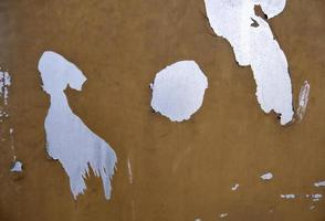 Peeling metal wall photo