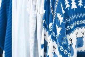 Clothes Christmas sale blue photo