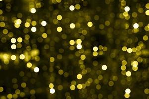 Gold yellow glowing light bokeh blurred photo