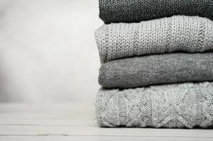Grau wool sweater cozy Autumn warm photo