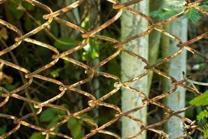 valla de rejilla oxidada foto
