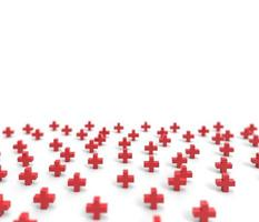 Group of Red Cross icon background. photo