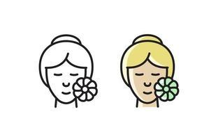 Skin care line icon. Editable vector illustration.