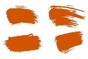 Stylish orange brush, acrylic paint. vector