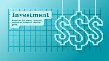 Money Investment Business Presentation Template vector