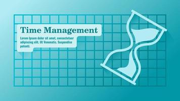 Time Management with Hourglass Presentation Template vector