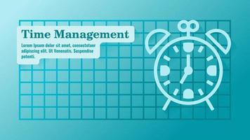 Time Management with Clock Presentation Template vector