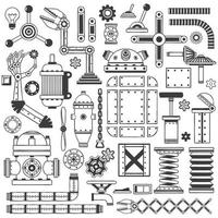 Spare parts collection vector